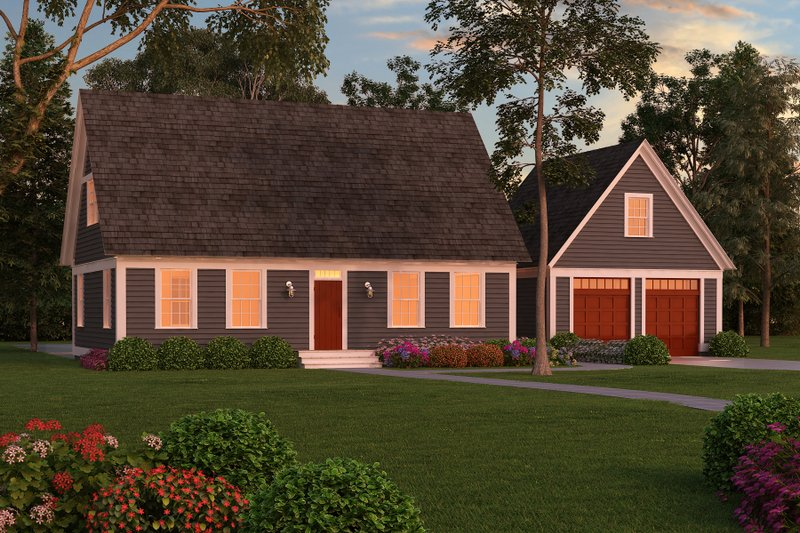 Colonial Style House Plan - 3 Beds 3 Baths 2981 Sq/Ft Plan #903-3 Exterior - Front Elevation