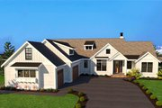 Farmhouse Style House Plan - 3 Beds 2.5 Baths 2688 Sq/Ft Plan #1070-4 Exterior - Front Elevation