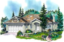 House Blueprint - Mediterranean Exterior - Front Elevation Plan #18-150