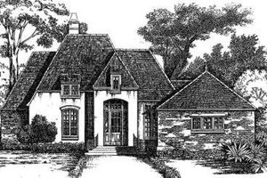 European Exterior - Front Elevation Plan #301-102