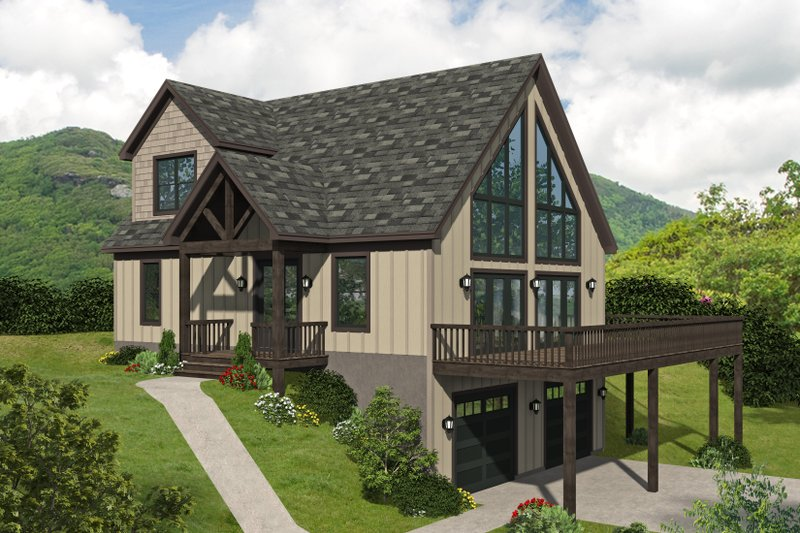 House Plan Design - Traditional Exterior - Front Elevation Plan #932-434