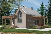 Modern Style House Plan - 2 Beds 1 Baths 1200 Sq/Ft Plan #23-2676 Exterior - Front Elevation