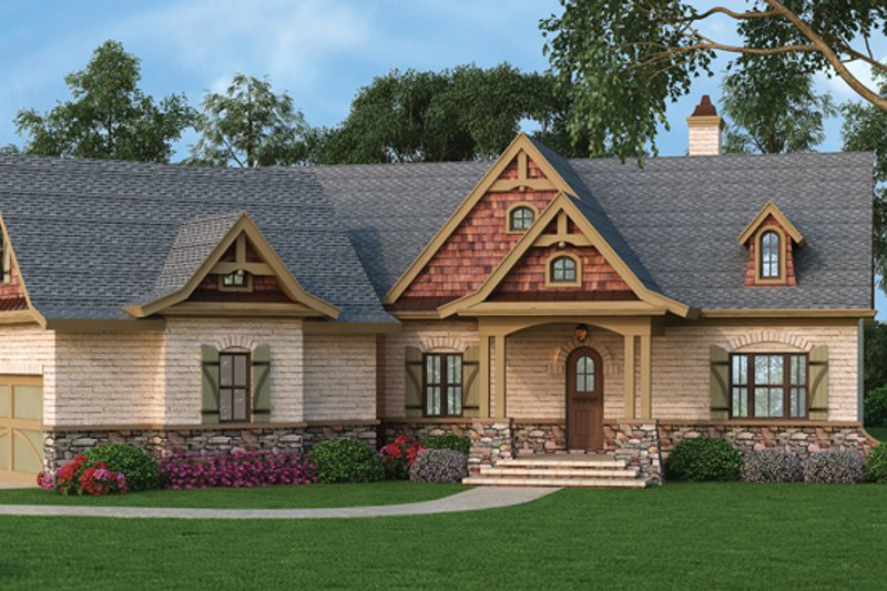Craftsman Exterior - Front Elevation Plan #119-422 - Houseplans.com