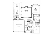 Craftsman Floor Plan - Main Floor Plan Plan #316-281
