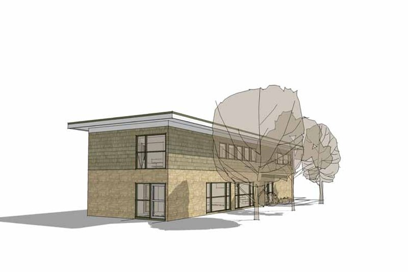 Contemporary Exterior - Rear Elevation Plan #64-311 - Houseplans.com