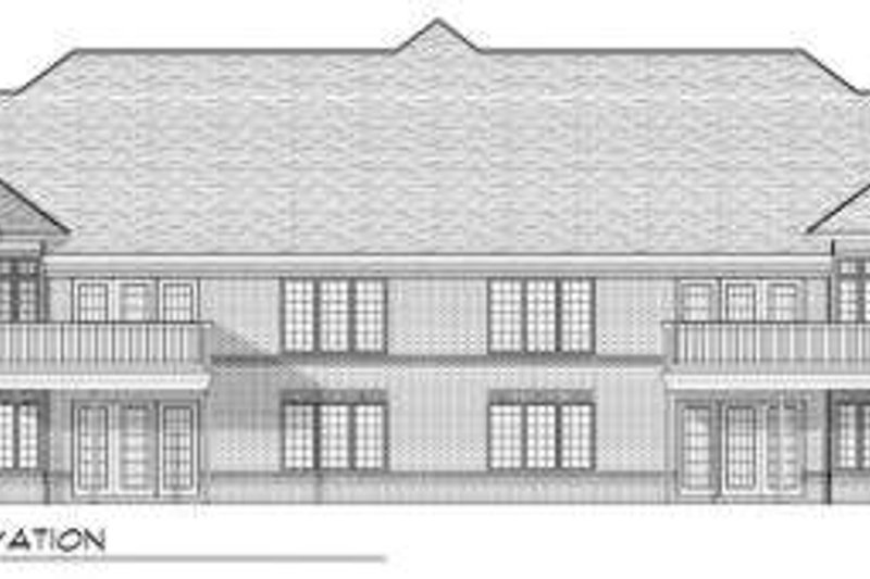 Traditional Exterior - Rear Elevation Plan #70-749 - Houseplans.com