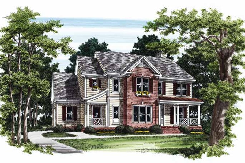 Country Exterior - Front Elevation Plan #927-545 - Houseplans.com