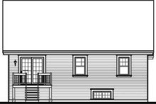 Dream House Plan - Traditional Exterior - Rear Elevation Plan #23-650