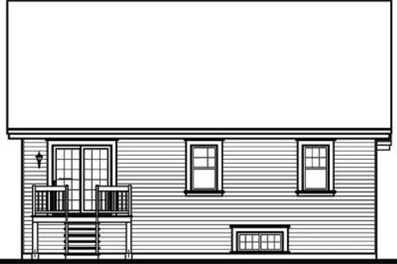 Traditional Exterior - Rear Elevation Plan #23-650 - Houseplans.com