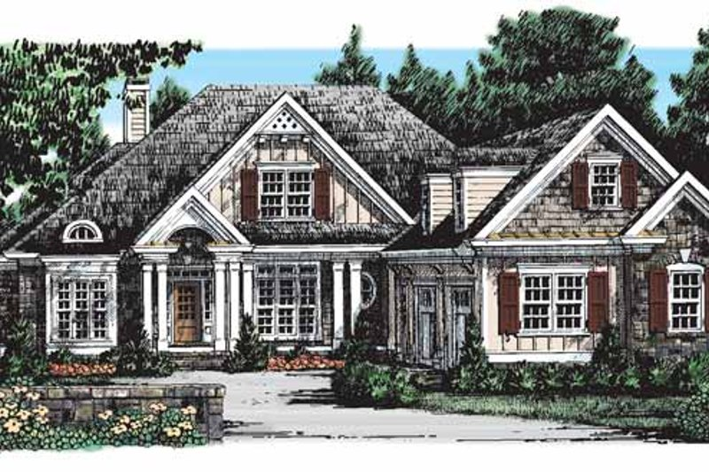 Country Exterior - Front Elevation Plan #927-274