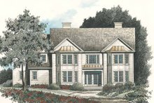 House Plan Design - Classical Exterior - Rear Elevation Plan #429-126