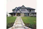 European Style House Plan - 4 Beds 5 Baths 4746 Sq/Ft Plan #410-166 Exterior - Front Elevation