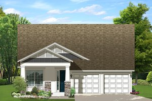 Craftsman Exterior - Front Elevation Plan #1058-136