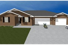 Ranch Exterior - Front Elevation Plan #1060-27