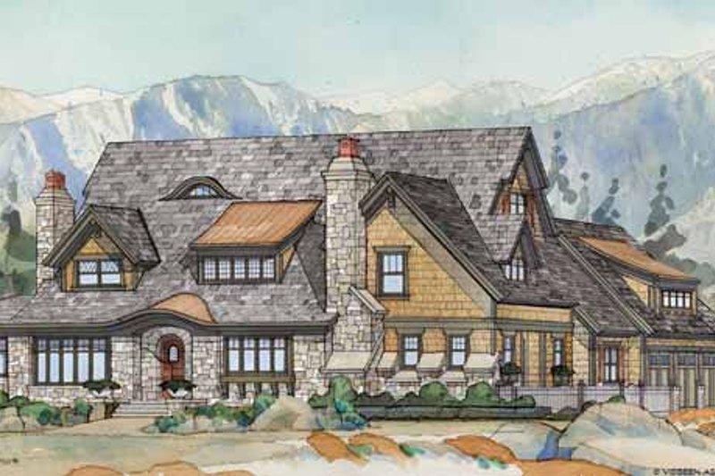 Architectural House Design - Craftsman Exterior - Front Elevation Plan #928-237