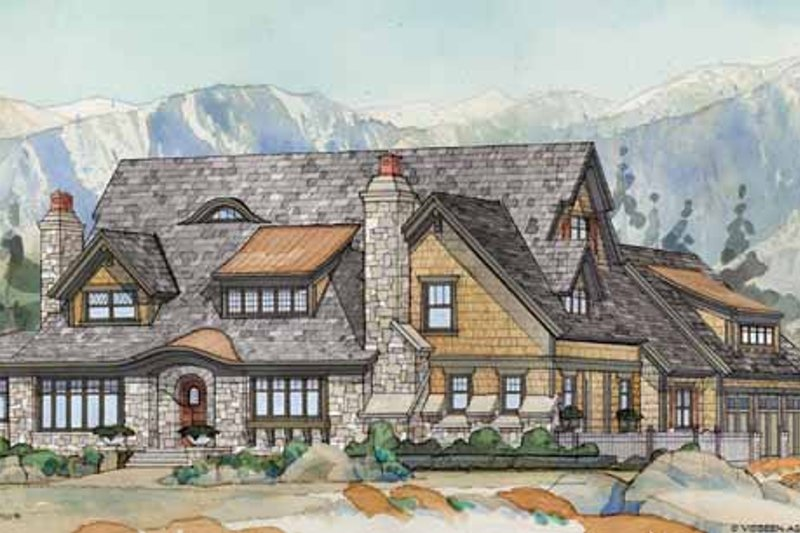 Craftsman Exterior - Front Elevation Plan #928-237