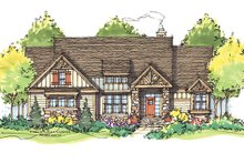 Architectural House Design - Craftsman Exterior - Front Elevation Plan #929-935