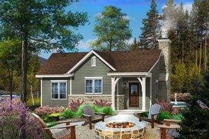 Cottage Exterior - Front Elevation Plan #22-567