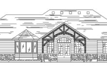 Craftsman Exterior - Rear Elevation Plan #945-63