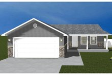 Home Plan - Ranch Exterior - Front Elevation Plan #1060-16