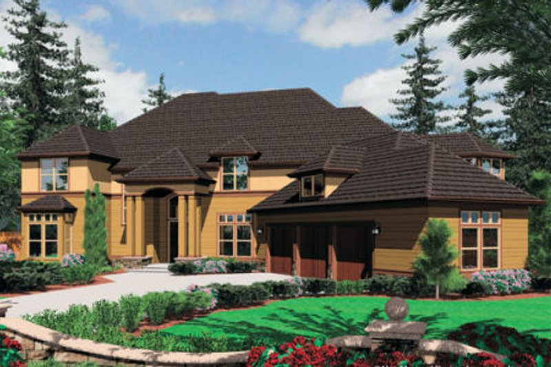 Craftsman Exterior - Front Elevation Plan #48-356