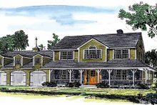 House Plan Design - Country Exterior - Front Elevation Plan #315-127