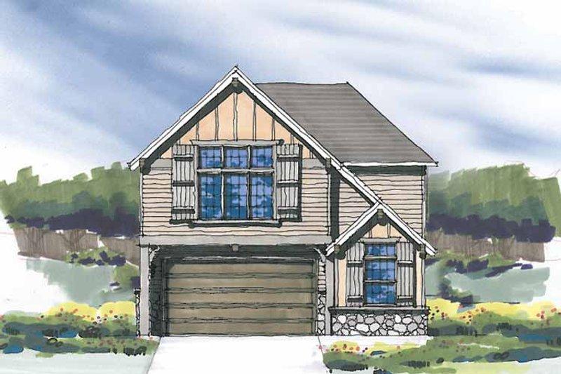 Craftsman Exterior - Front Elevation Plan #509-271