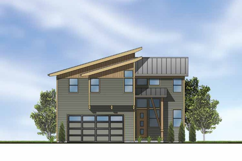 Exterior - Front Elevation Plan #569-14 - Houseplans.com