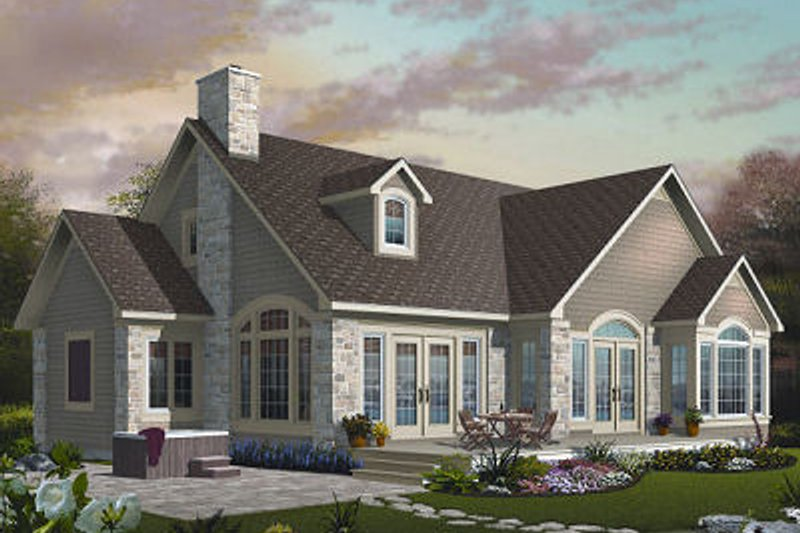 Dream House Plan - Traditional Exterior - Front Elevation Plan #23-727