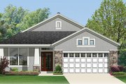 Craftsman Style House Plan - 3 Beds 2 Baths 2000 Sq/Ft Plan #1058-67 Exterior - Front Elevation