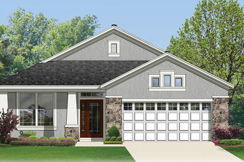 Craftsman Exterior - Front Elevation Plan #1058-67 - Houseplans.com