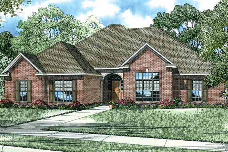 Ranch Exterior - Front Elevation Plan #17-2744