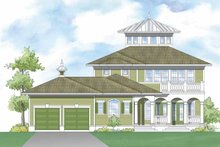 Southern Exterior - Rear Elevation Plan #930-406