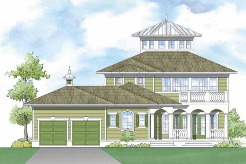 Southern Exterior - Rear Elevation Plan #930-406 - Houseplans.com
