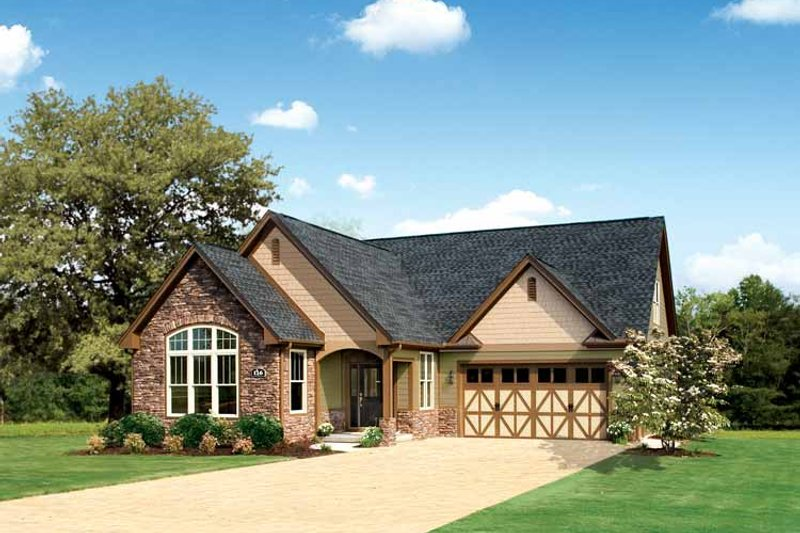 Tudor Exterior - Front Elevation Plan #929-613
