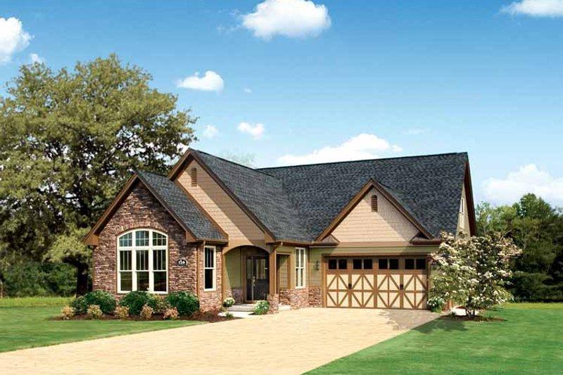Home Plan - Tudor Exterior - Front Elevation Plan #929-613