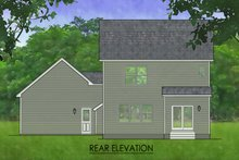 House Plan Design - Traditional Exterior - Rear Elevation Plan #1010-220