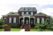 Home Plan - Colonial Exterior - Front Elevation Plan #54-354