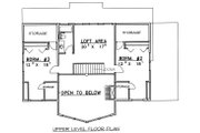 Cabin Style House Plan - 3 Beds 2.5 Baths 2281 Sq/Ft Plan #117-549 Floor Plan - Upper Floor Plan