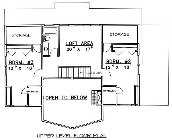 Cabin Floor Plan - Upper Floor Plan Plan #117-549