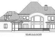 European Style House Plan - 4 Beds 4 Baths 3669 Sq/Ft Plan #413-109 Exterior - Rear Elevation