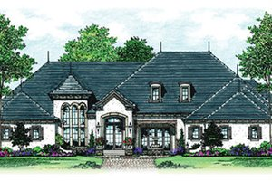 Dream House Plan - European Exterior - Front Elevation Plan #417-816