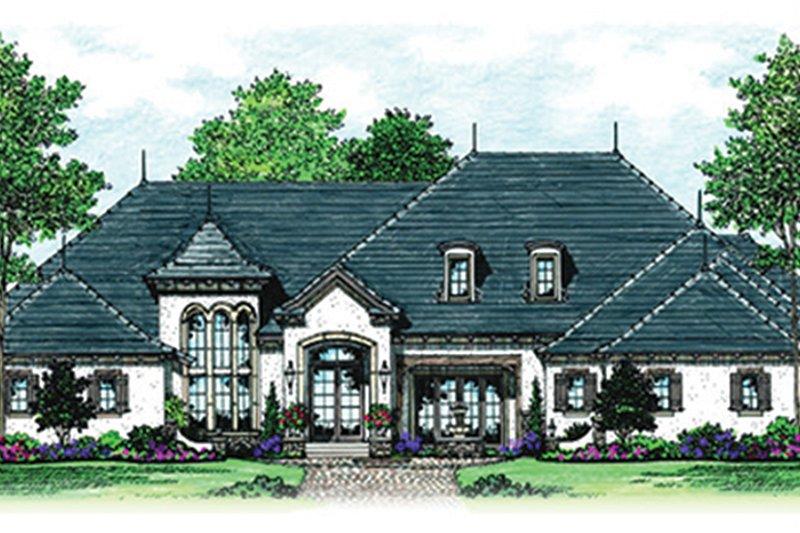 Dream House Plan - European Exterior - Front Elevation Plan #417-816