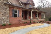 European Style House Plan - 3 Beds 2 Baths 2842 Sq/Ft Plan #437-62 Exterior - Covered Porch