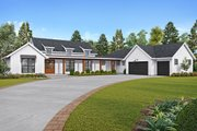 Farmhouse Style House Plan - 3 Beds 2.5 Baths 2495 Sq/Ft Plan #48-943 Exterior - Front Elevation
