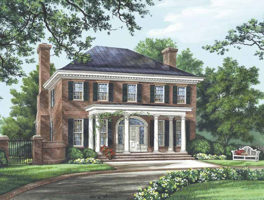 Classical style house plan 4 beds 4 5 baths 3280 sq ft for Home design 99