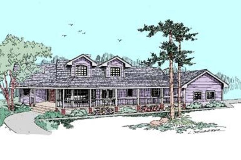 Country Style House Plan - 3 Beds 2 Baths 2228 Sq/Ft Plan #60-408