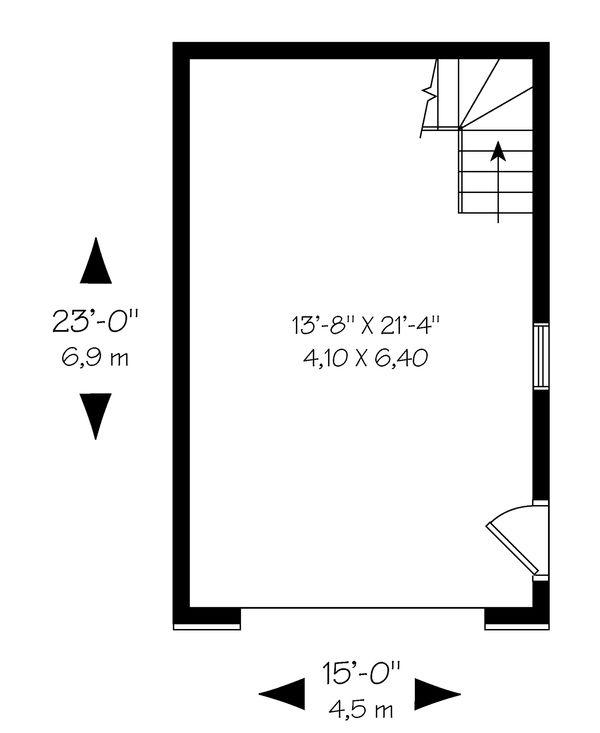 Canadian european style garage plan