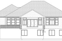 Ranch Exterior - Rear Elevation Plan #1060-30