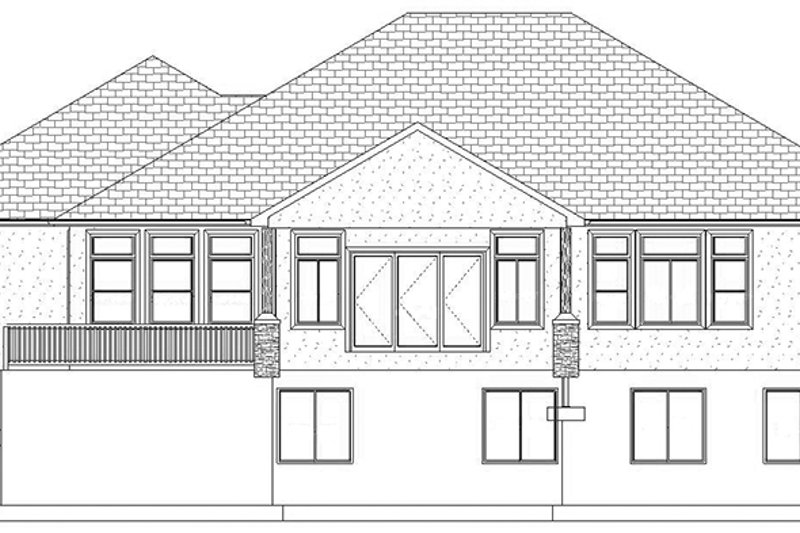 Ranch Exterior - Rear Elevation Plan #1060-30 - Houseplans.com